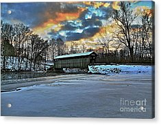 The Covered Bridge Acrylic Print by Robert Pearson