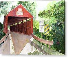 The Covered Bridge Acrylic Print by Vickey Swenson