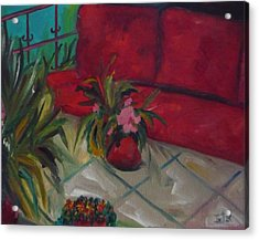 The Covered Terrace Acrylic Print by Irit Bourla