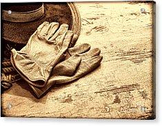 The Cowboy Gloves Acrylic Print