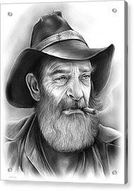 The Cowboy Acrylic Print by Greg Joens