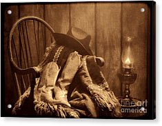 The Cowgirl Rest Acrylic Print by American West Legend By Olivier Le Queinec
