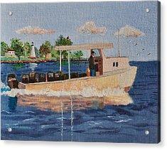 The Crab Fisherman Leaving Havre De Grace Acrylic Print