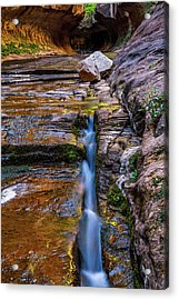 The Crack Acrylic Print by James Marvin Phelps
