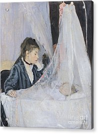 The Cradle Acrylic Print by Berthe Morisot