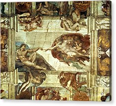 The Creation Of Adam Acrylic Print by Michelangelo