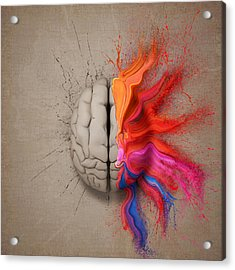 The Creative Brain Acrylic Print by Johan Swanepoel