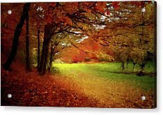 Acrylic Print featuring the painting The Crimson Season P D P by David Dehner