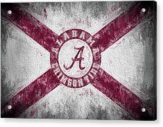 The Crimson Tide State Flag Acrylic Print by JC Findley