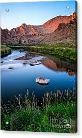 The Crooked River Runs Through Smith Rock State Park  Acrylic Print