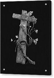 The Cross And The Vine Acrylic Print by Jyvonne Inman
