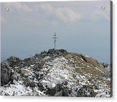 The Cross At Shipka Acrylic Print
