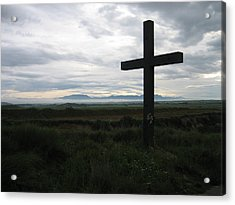The Cross Acrylic Print by Oliver Johnston