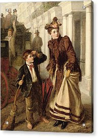 The Crossing Sweeper Acrylic Print by William Powell Frith