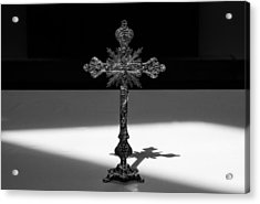 Acrylic Print featuring the photograph The Cross's Shadow by Monte Stevens