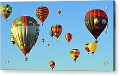 Acrylic Print featuring the photograph The Crowded Skies by AJ Schibig