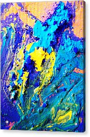 The Crucifiction As Seen In Oceans Clif Acrylic Print by Bruce Combs - REACH BEYOND