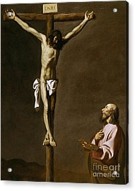 The Crucified Christ With A Painter Acrylic Print by Francisco de Zurbaran
