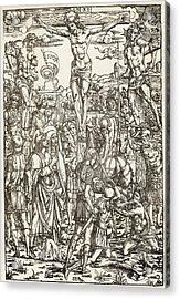 The Crucifixion By Master I.b Acrylic Print