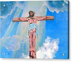 The Crucifixion Daytime Acrylic Print by Stan Hamilton
