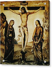 The Crucifixion Acrylic Print by Dino Muradian