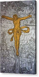 The Crucifixion Acrylic Print by Don Columbus