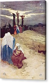 The Crucifixion, From The Book The Acrylic Print