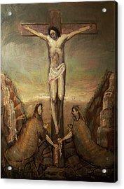 The Crucifixion Of Christ Acrylic Print by Derek Van Derven