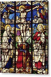 The Crucifixion, Stained Glass Window Acrylic Print