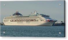 Acrylic Print featuring the photograph The Cruise Ship Oceana by Bradford Martin