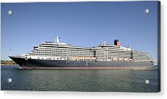Acrylic Print featuring the photograph The Cruise Ship Queen Victoria by Bradford Martin