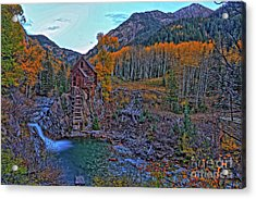 Acrylic Print featuring the photograph The Crystal Mill by Scott Mahon