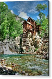 The Crystal Mill In Crystal Colorado Acrylic Print by Ken Smith