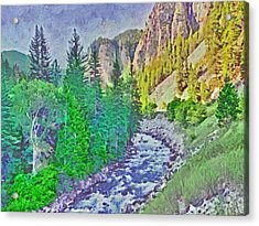 The Crystal River Around Redstone Colorado Acrylic Print