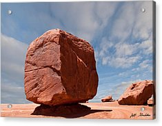 The Cube At Monument Valley Acrylic Print
