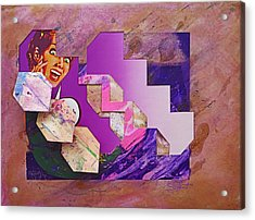 The Cubist Scream Acrylic Print