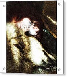 The Cuddle  #petstagram #gsd Acrylic Print