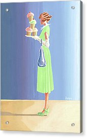 The Cupcake Lady Acrylic Print