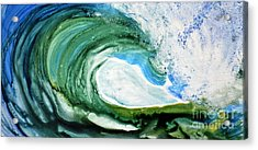 Acrylic Print featuring the painting The Curl by Joan Hartenstein