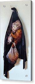 The Curtain Acrylic Print by Nancy Mueller