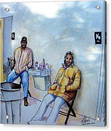 The Custodians Acrylic Print by Albert Puskaric