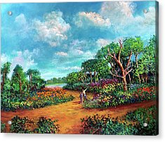 Acrylic Print featuring the painting The Cycle Of Life by Randol Burns