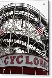The Cyclone At Coney Island Acrylic Print by Christopher Kirby