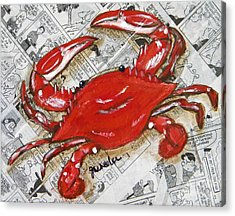 The Daily Crab Acrylic Print
