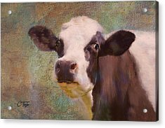 Acrylic Print featuring the mixed media The Dairy Queen by Colleen Taylor