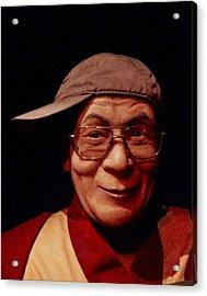The Dali Lama Wearing My Hat Acrylic Print by Bill Cannon