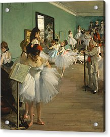 The Dance Class Acrylic Print by Edgar Degas
