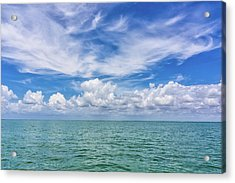 The Dance Of Clouds On The Sea Acrylic Print
