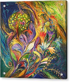 The Dance Of Lilies Acrylic Print by Elena Kotliarker