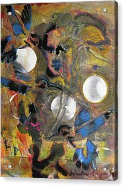 The Dance Of The Hummingbird Acrylic Print by Socrates Marquez